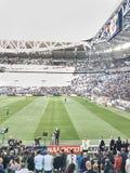 Vue du stade d'Allianz, le champ de maison de Juventus image libre de droits