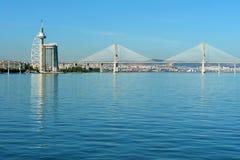 Vue du stationnement des nations de Lisbonne et Image libre de droits