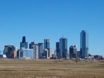 Vue du sud de Dallas du centre Photos stock