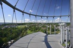 Vue du sud de la tour de stationnement, Stuttgart Photo stock