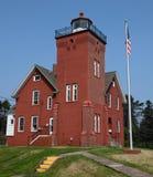 Vue du sud-est de phare de deux ports photo stock