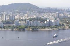 Vue du Sugaloaf à Botafogo et à d'autres disctricts de Rio de Janeiro image libre de droits