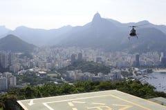 Vue du Sugaloaf à Botafogo et à d'autres disctricts de Rio de Janeiro photographie stock