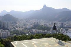 Vue du Sugaloaf à Botafogo et à d'autres disctricts de Rio de Janeiro photos libres de droits