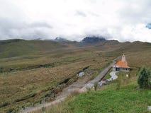 Vue du TeleferiQo de Quito Images libres de droits
