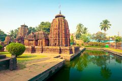 Vue du temple de Mukteshwara - temple hindou de Lord Shiva à Bhubaneswar photo stock