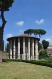 Vue du temple du forum de Hercule Boario. Photo libre de droits