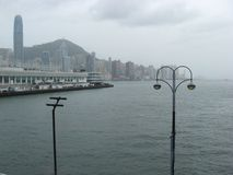 Vue du terminal de bateau de croisière, Tsim Sha Tsui, Kowloon, Hong Kong images stock