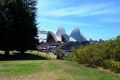 Vue du théatre de l'opéra du jardin botanique royal, Sydney photographie stock libre de droits