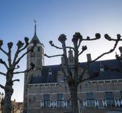 Vue du townhall de Willemstad image libre de droits