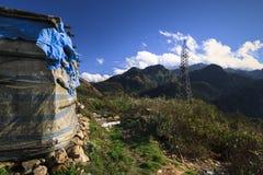 Vue du tram Ton Pass près de Sapa Image libre de droits