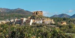 Vue du vieux château de Castellnovo photos libres de droits