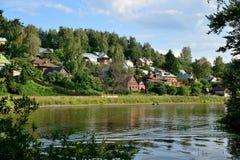 Vue du village Images libres de droits