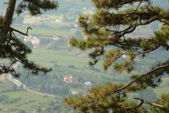 Vue du village Photo stock