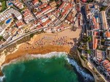 Vue du village Carvoeiro, d'en haut Photo libre de droits