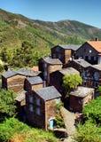 Vue du village de montagne de Piodao Image libre de droits