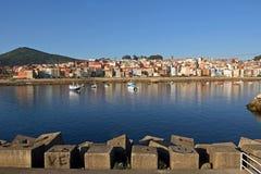 Vue du village de pêche de la La province de Guardia, Pontevedra, images libres de droits