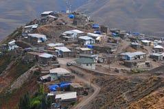 Vue du village de Xinaliq image libre de droits