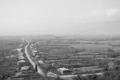 Vue du village géorgien Photos libres de droits