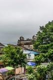 Vue du village mur? de Tsang Tai Uk ?galement connu sous le nom de Shan Ha Wai dans les nouveaux territoires de Honk Kong photo libre de droits