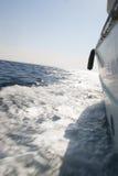 Vue du yacht de marche sur la mer Images libres de droits
