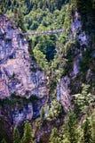Vue effarante de Marienbrucke dans Schwangau, Allemagne Photographie stock libre de droits