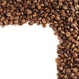 Vue effectuée avec des grains de café Photos libres de droits