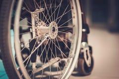 Vue en gros plan d'un fauteuil roulant Photos libres de droits