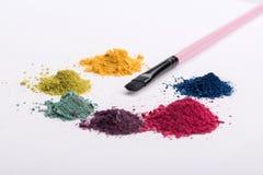 Vue en gros plan de brosse professionnelle de maquillage Image stock
