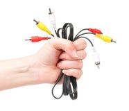 Câbles à disposition Images stock