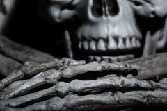 Vue en gros plan du crâne humain Images stock