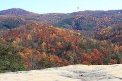 Vue en pierre d'automne de parc d'état de montagne Image libre de droits