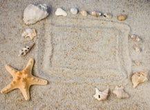 Vue en sable Photographie stock libre de droits
