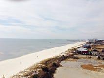 vue ensoleillée de bord de la mer de patmos d'île de jour Photographie stock