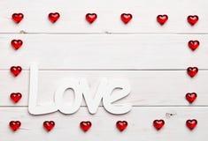 Vue et amour sur le fond en bois Photo libre de droits