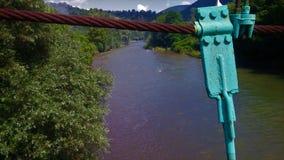 Vue et arbres de rivière photographie stock libre de droits