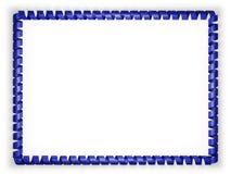 Vue et frontière de ruban avec le drapeau d'Union européenne illustration 3D Photographie stock libre de droits