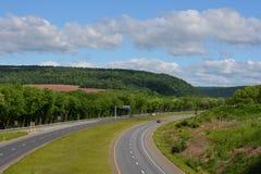 Vue et routes de la Pennsylvanie images stock