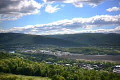 Vue et routes de la Pennsylvanie Photographie stock libre de droits