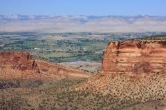 Vue expansible du monument national du Colorado Photographie stock