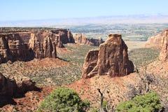 Vue expansible du monument national du Colorado Images libres de droits