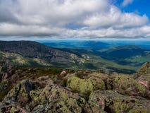 Vue expansive de vallée, Maine Woods et eaux, Katahdin photo stock