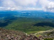 Vue expansive de vallée, Maine Woods et eaux, Katahdin photographie stock
