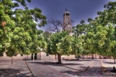 Vue extérieure à la mosquée grande de Dosso, Niger Image stock