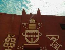Vue extérieure à la résidence de sultan de Damagaram, Zinder, Niger image libre de droits