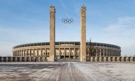 Vue extérieure d'Olympia Stadium de Berlin, établie pour les 1936 Jeux Olympiques d'été , à Berlin, l'Allemagne Photos stock