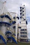 Vue extérieure de centrale cryogénique (de séparation d'air) Image stock