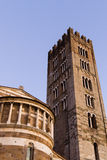 Vue extérieure de détail de cathédrale de Lucques Photo stock