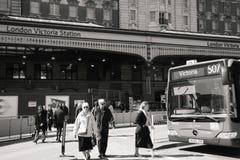Vue extérieure de gare de Londres Victoria Photo stock