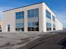 Vue extérieure de hall industriel Photographie stock